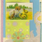Vintage Bunnies and Chicks Theme Easter Greeting Card