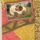 """A Happy Easter"" Vintage Theme Handmade Card"