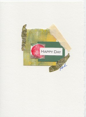 """""""Happy Day"""" Abstract Handmade Greeting Card"""