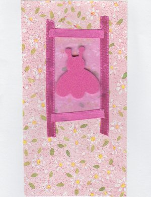 Pink Ladybug - All Occasion Handmade Greeting Card