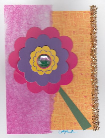 Flower Power Unique Handcrafted Greeting Card