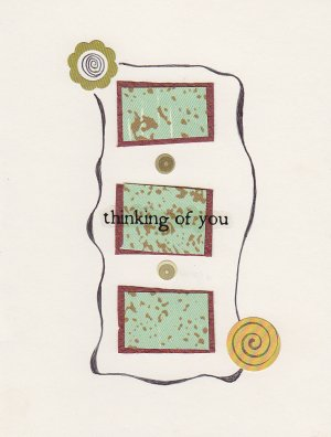 """Thinking of You"" - Handmade Greeting Card"