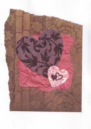 Elegant Handmade Valentine's Greeting Card