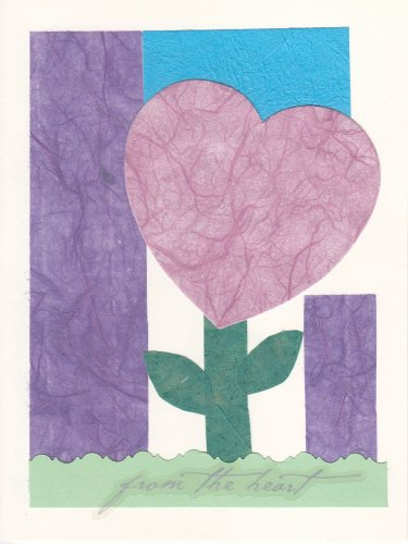 """""""From the Heart"""" Handcrafted Valentine's Card"""