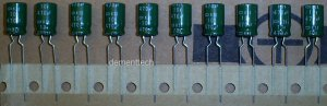 10x 470uF 10v Nippon Chemicon KZE 105C Low-ESR capacitors