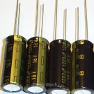 4x 1200uF 16v Panasonic FM 105C Low-ESR capacitors