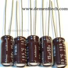 5x 15uF 50v Nichicon PM 105C Low-ESR radial capacitors caps