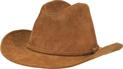 Genuine Suede Leather Cowboy Hat - Size XL