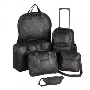 Genuine Leather 6pc Luggage Set