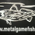 Metal Fish Art Red fish breaking gamefish art sculpture