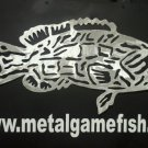 Metal Fish Art  Aluminum Black Grouper Gamefish  wall art