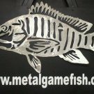Metal Fish Art Mutton Snapper Gamefish sculpture