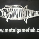 Metal Fish Art  Aluminum Wahoo Gamefish  wall art