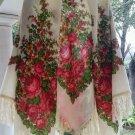 "Russian shawl 100% rare dense wool 58"" x 58"""