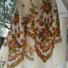 "Russian shawl 100% rare dense wool 58""x 58"" square scarf"