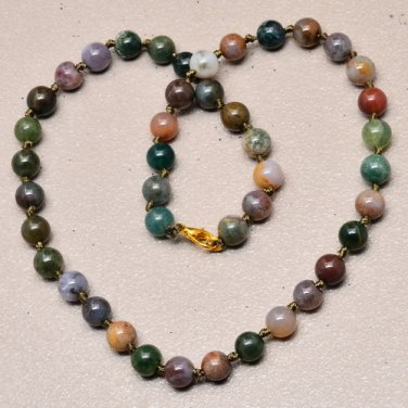"""Natural agate necklace 17 5/8"""""""