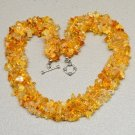 "17 3/4"" NATURAL CITRINE GEMSTONE CHIP BAND NECKLACE"