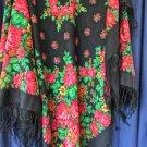 """Russian shawl 100% wool 57""""x57"""""""