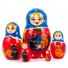 Nesting doll cat  5 dolls set 3.1'