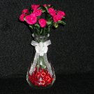 RibbonFlower Gallery - Mini Rosebud Vase- Merry Christmas Cheer