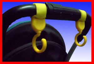 Multi Purpose Baby Stroller Hooks (Yellow) - 1 pair