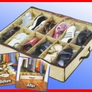 Shoe Organizer for Under Bed & Closets (Holds 12 pairs)