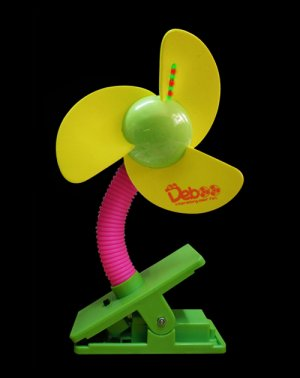 Baby Stroller/ Jogger Mini Laser Clip-on Fan (Blade-yellow)