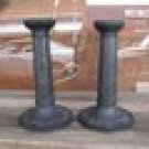 Antique Wedgewood Black Basalt Candlesticks