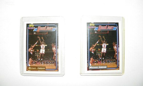 Michael Jordan 1992-1993 Topps Gold Highlight Card