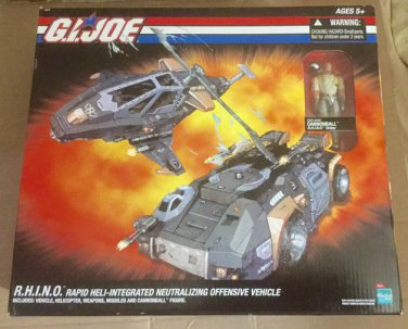 Brand New GI Joe 2005 Online Exclusive R.H.I.N.O. W/Cannonball
