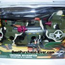 Brand New True Heroes Freedom Helicopter Army Camo Green