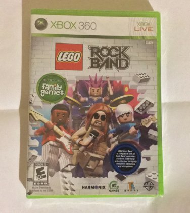 Lego Rock Band - Xbox 360 - Brand New Factory Sealed