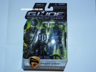 Brand New G.I. Joe ROC Snake Eyes City Strike Action Figure