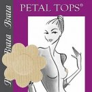 Braza Disposable Petal Tops Nipple Covers Pasties 1140 (5 Pairs), Beige