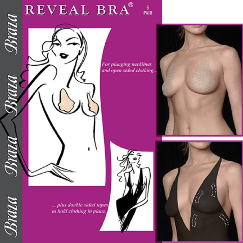 Braza Reveal Deep V Plunge Disposable Adhesive Stick On Bra (5 Pairs) 1005