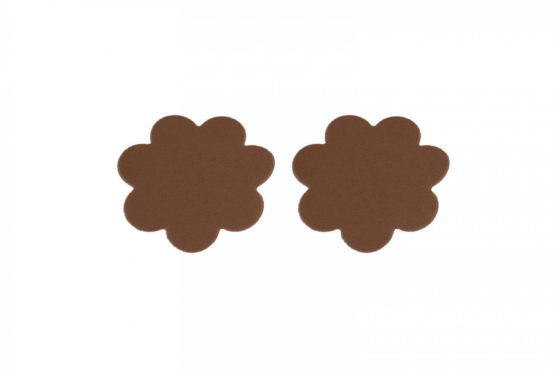 Braza Petal Tops Reusable Adhesive Nipple Cover Waterproof Pasties, 1160P, Cocoa