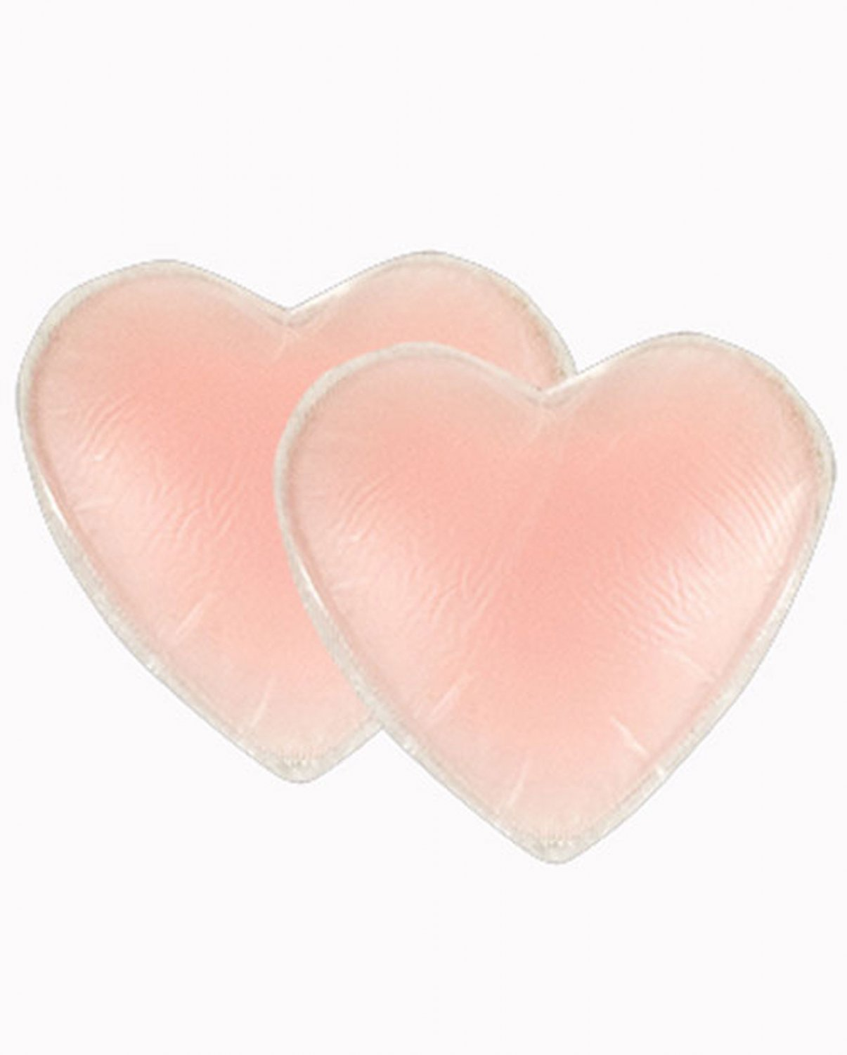Braza Silicone Gel Heart Tops Reusable Nipple Covers 7900H, Pink