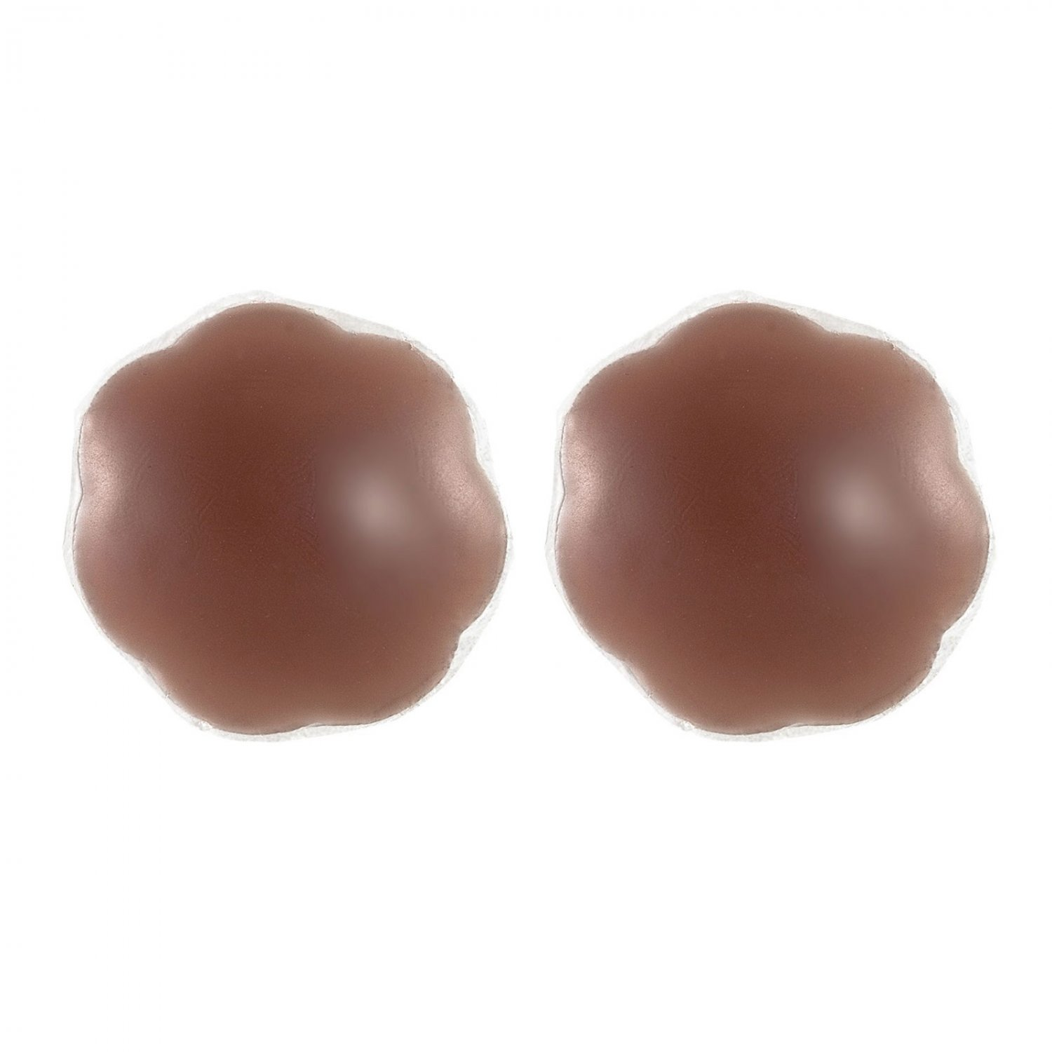 Braza Silicone Gel Petal Tops Reusable Nipple Covers 7900P, Cocoa