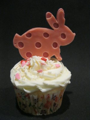 Edible Easter Bunny Cupcake Topper