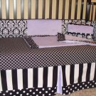 Crib Bumper, Skirt, Blanket, Sheet and Decorative Pillow