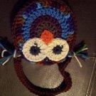 Crocheted Owl Purse MULTI BROWNS