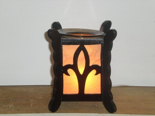 Square Wood ELECTRIC Wax OIL WARMER 729