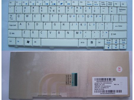 "Acer Aspire One D150  D250 A110 A150 ZG5 ZG8 8.9"" White keyboard"