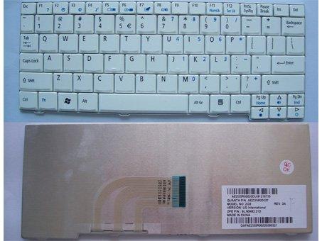 "Acer Aspire One D150  D250 A110 A150 ZG5 ZG8 8.9"" White keyboard"