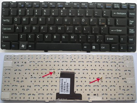 SONY Vaio VPC EA Series laptop keyboard Black - 148792021,MP-09L13US-886