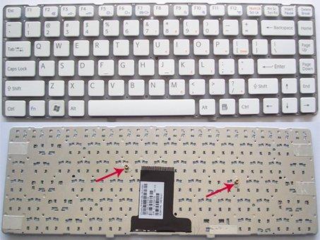 SONY Vaio VPC EA Series laptop keyboard White - 148792421,MP-09L13US-8861