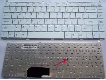 US Layout Sony VAIO VGN AR, VGN FE Series Laptop Keyboard White
