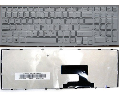 Sony VPC-EH25FM/P Keyboard - NEW Sony VAIO VPC-EH25FM/P Keyboard  ( us layout,White)