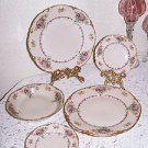 Scarce Fraunfelter China Ohio FRF4294 Floral Sprays Vintage Pattern 7 pc RARE