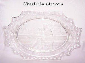 "EAPG Egyptian Platter ""CLEOPATRA"" Adams & Co 1884 Parthenon RARE Early American"